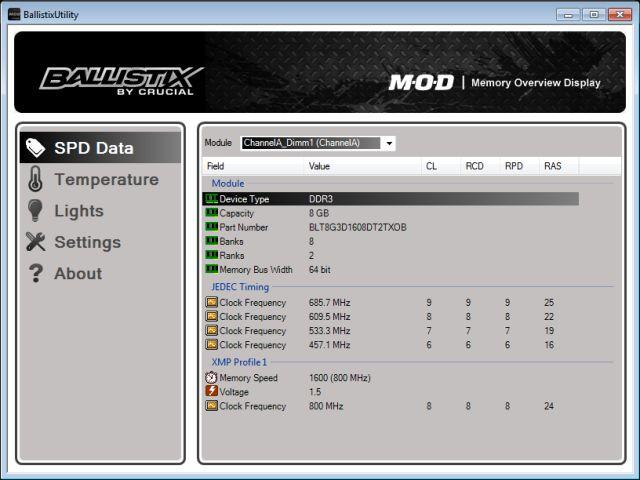 Ballistix Memory M O D Utility | Software Download | Crucial com