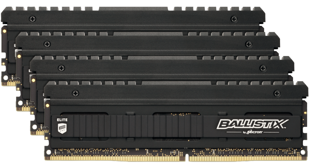 Ballistix Elite 32GB (8GBx4) DDR4-4000 UDIMM- view 1