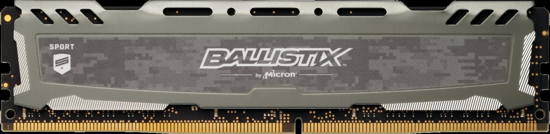 Ballistix Sport LT Gray 8GB DDR4-3000 UDIMM Desktop/PC Memory