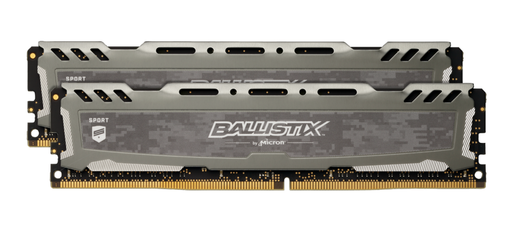 Image for Ballistix Sport LT Gray 16GB Kit (2 x 8GB) DDR4-3200 UDIMM from Crucial USA