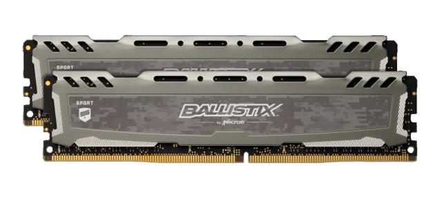 Ballistix Sport LT Gray 32GB Kit (2 x 16GB) DDR4-2400 UDIMM