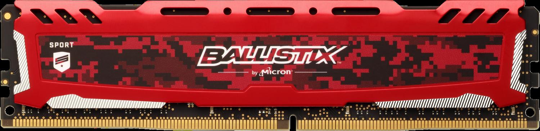Ballistix Sport LT Red 8GB DDR4-3200 UDIMM Desktop/PC Memory