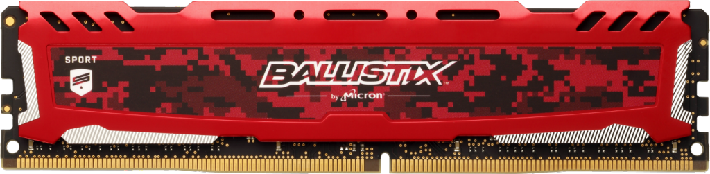 Ballistix Sport LT Red 4GB DDR4-2400 UDIMM- view 1