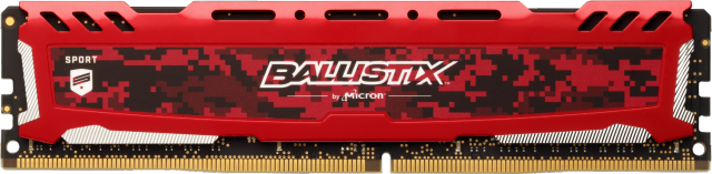 Ballistix Sport LT Red 16GB DDR4-2400 UDIMM