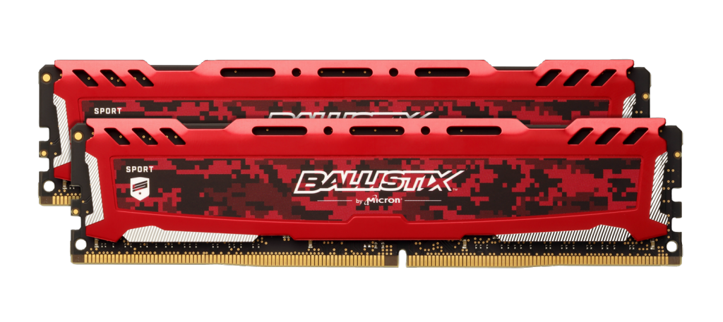Ballistix Sport LT Red 8GB Kit (2 x 4GB) DDR4-2400 UDIMM- view 1