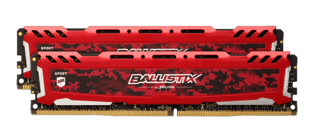 Ballistix Sport LT Red 32GB Kit (2 x 16GB) DDR4-3200 UDIMM