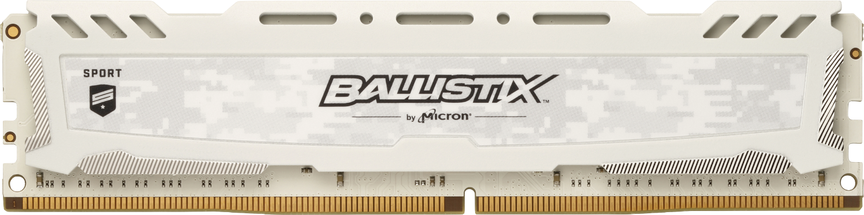 Ballistix Sport LT White 8GB DDR4-3000 UDIMM Desktop/PC Memory