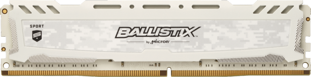 Image for Ballistix Sport LT White 8GB DDR4-3200 UDIMM from Crucial India