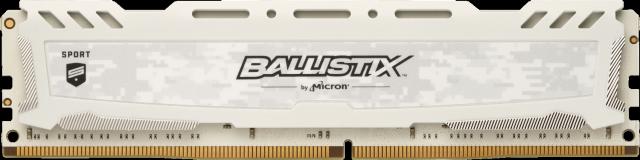 Ballistix Sport LT White 4GB DDR4-2400 UDIMM