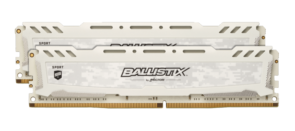 Ballistix Sport LT White 8GB Kit (2 x 4GB) DDR4-2400 UDIMM- view 1