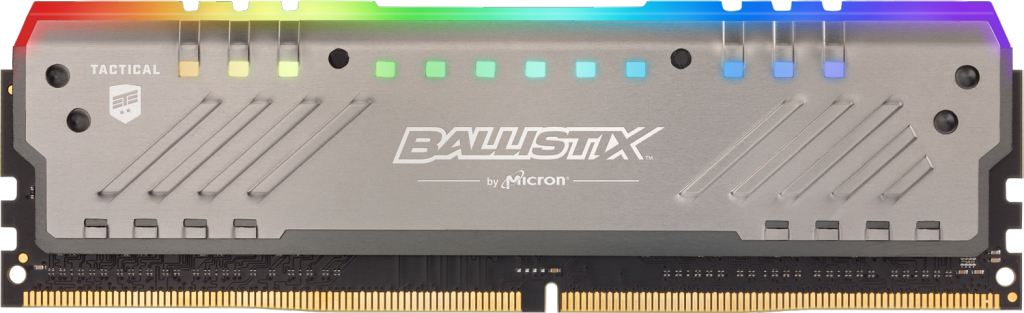 Crucial Korea에서 Ballistix Tactical Tracer RGB 8GB DDR4-3200 UDIMM Gaming Memory의 이미지