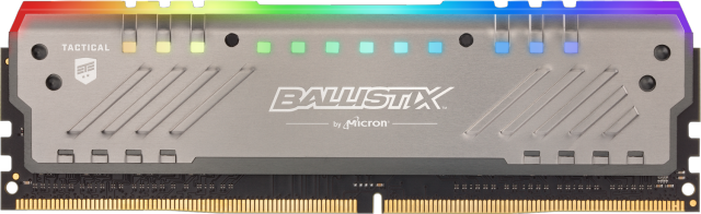 Ballistix Tactical Tracer RGB 8GB DDR4-3000 UDIMM Gaming Memory