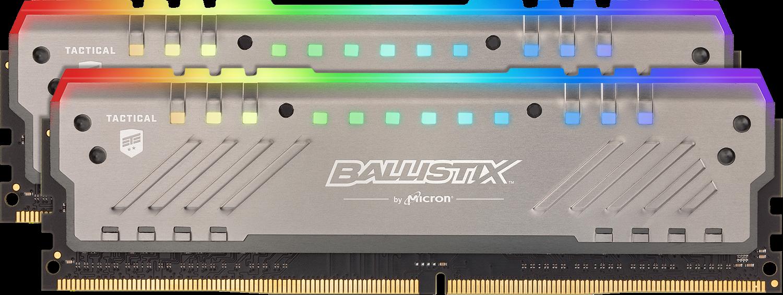 Memory & CPUs Ballistix Tactical Tracer RGB 16GB Kit (2x8GB) DDR4-3000 UDIMM Gaming Memory