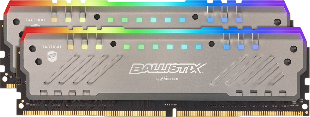 Crucial Japan の Ballistix Tactical Tracer RGB 16GB Kit (2x8GB) DDR4-3200 UDIMM Gaming Memory の画像