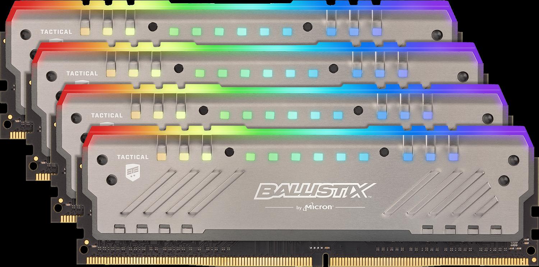 Memory & CPUs Ballistix Tactical Tracer RGB 32GB Kit (4x8GB) DDR4-3000 UDIMM Gaming Memory