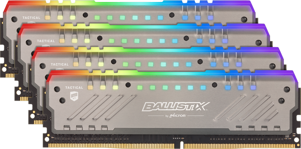 Crucial Taiwan 中 Ballistix Tactical Tracer RGB 32GB Kit (4x8GB) DDR4-3200 UDIMM Gaming Memory 的影像