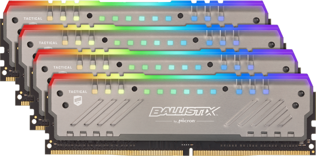 Ballistix Tactical Tracer RGB 32GB Kit (4x8GB) DDR4-3000 UDIMM Gaming Memory
