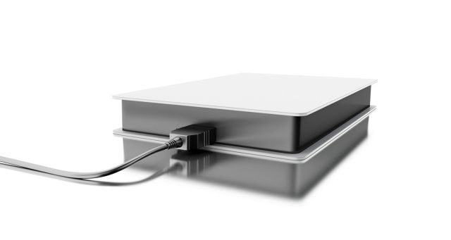 An external hard drive
