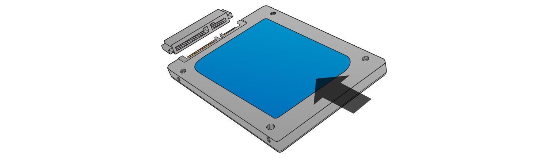 Ne forcez pas sur le connecteur lorsque vous installez votre SSD.