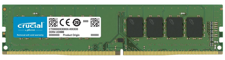 A Crucial DDR4 UDIMM RAM memory module
