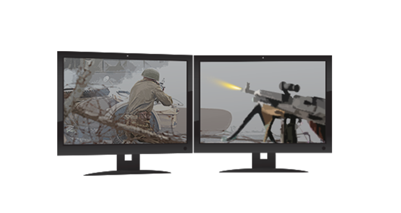Two gaming monitors