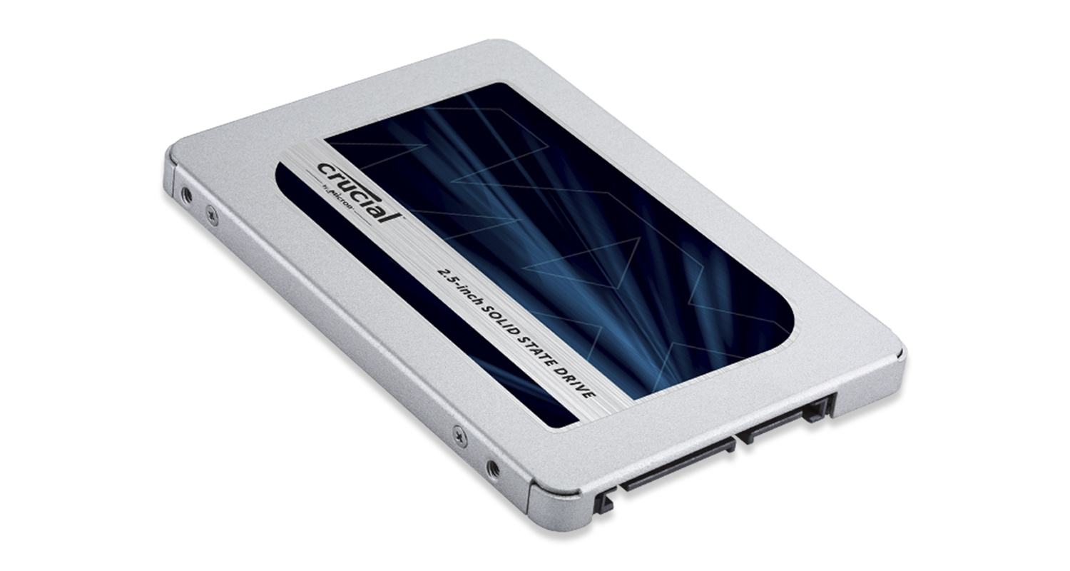 A Crucial solid state drive.
