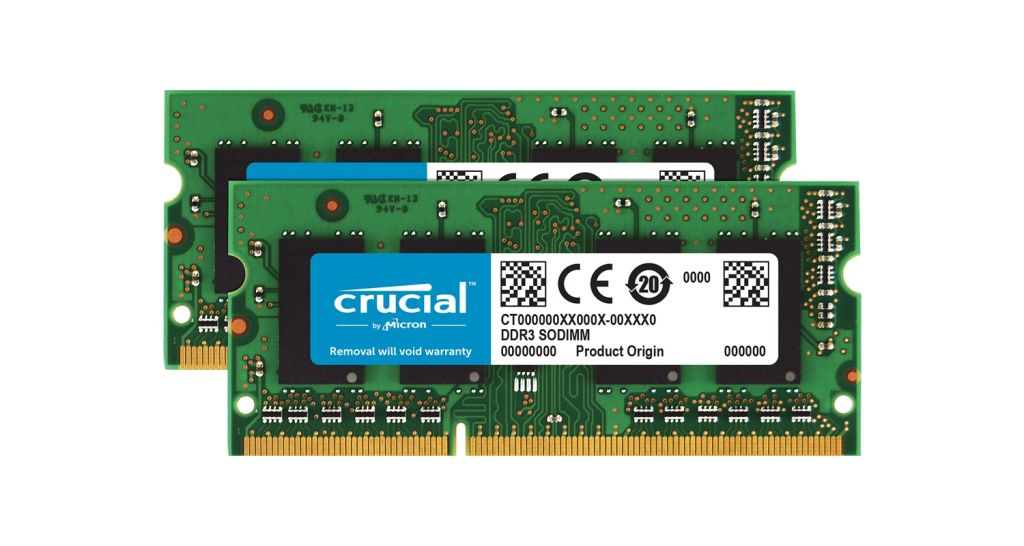 Crucial laptop memory