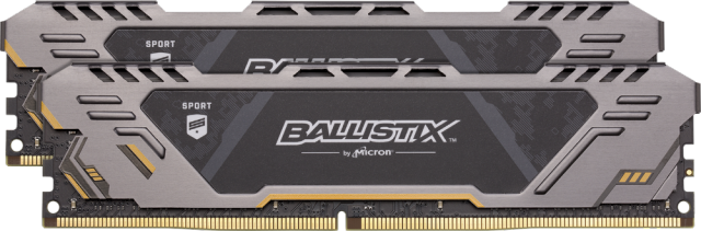 Ballistix Sport AT 32GB Kit (2 x 16GB) DDR4-2666 UDIMM gaming memory