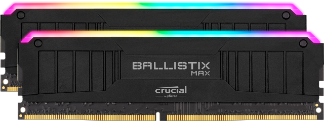 Crucial Ballistix MAX RGB 16GB Kit (2 x 8GB) DDR4-4400 Desktop Gaming Memory (Black)