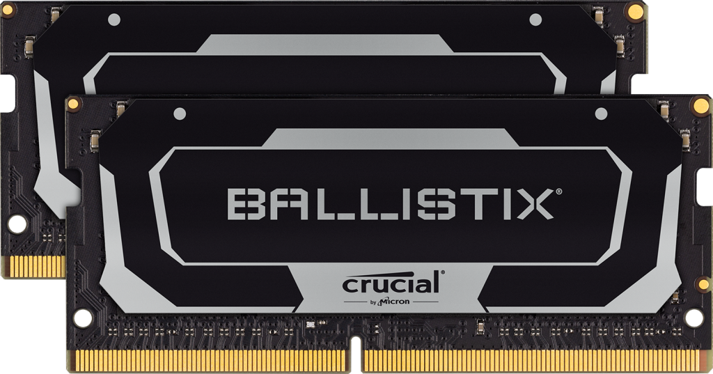 Crucial Ballistix SODIMM 64GB Kit (2 x 32GB) DDR4-3200 Gaming Memory (Black)- view 1