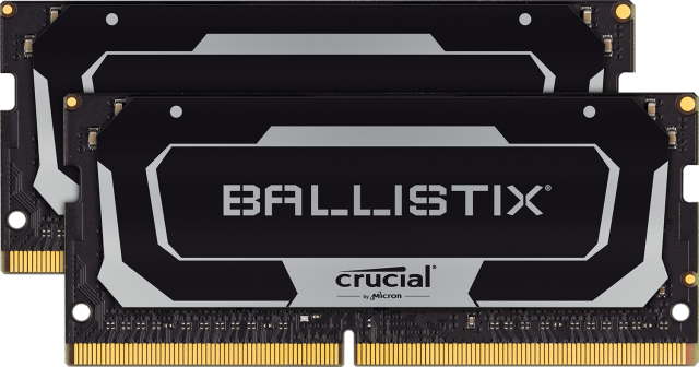 Crucial Ballistix SODIMM 32GB Kit (2 x 16GB) DDR4-2666 Gaming Memory (Black)