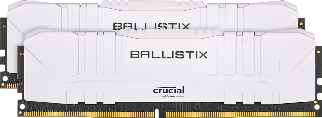 Crucial Ballistix 16GB Kit (2 x 8GB) DDR4-3600 Desktop Gaming Memory (White)- view 1