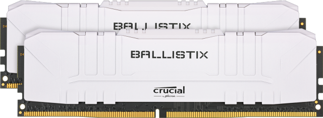 Crucial Ballistix 16GB Kit (2 x 8GB) DDR4-3200 Desktop Gaming Memory (White)