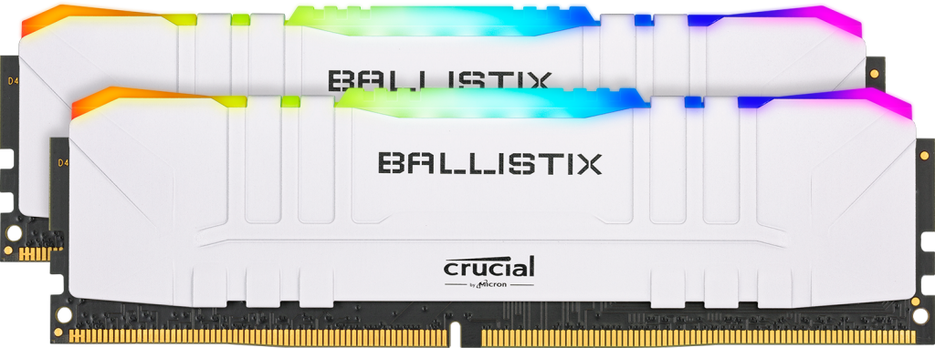 Crucial Ballistix RGB 64GB Kit (2 x 32GB) DDR4-3200 Desktop Gaming Memory (White)- view 1