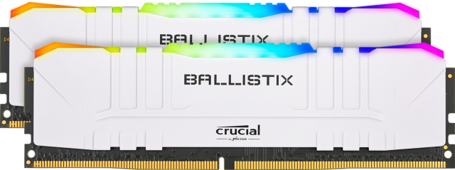 Crucial Ballistix RGB 16GB Kit (2 x 8GB) DDR4-3200 Desktop Gaming Memory (White)