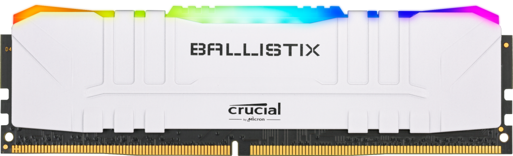 Crucial Ballistix RGB 8GB DDR4-3200 Desktop Gaming Memory (White)- view 1