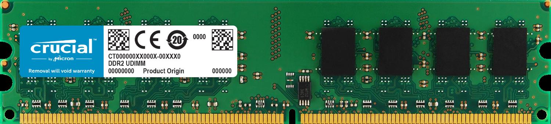 Crucial 2GB DDR2-800 UDIMM Desktop/PC Memory