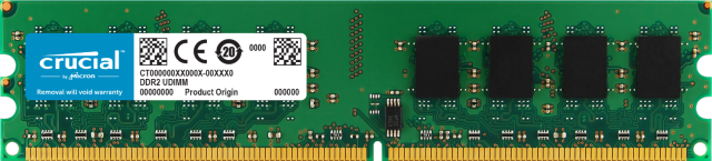 Crucial 1GB DDR2-800 UDIMM