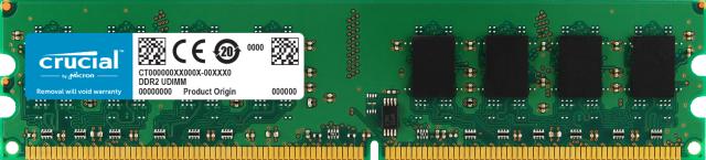 Crucial 2GB DDR2-800 UDIMM