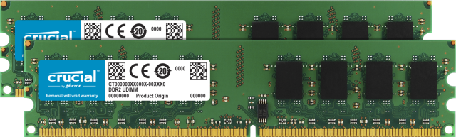 Crucial 2GB Kit (2 x 1GB) DDR2-800 UDIMM