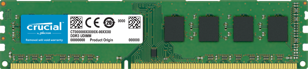 Crucial 4GB DDR3L-1600 UDIMM- view 1