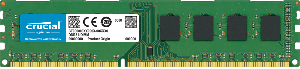 Crucial 8GB DDR3L-1600 UDIMM- view 1