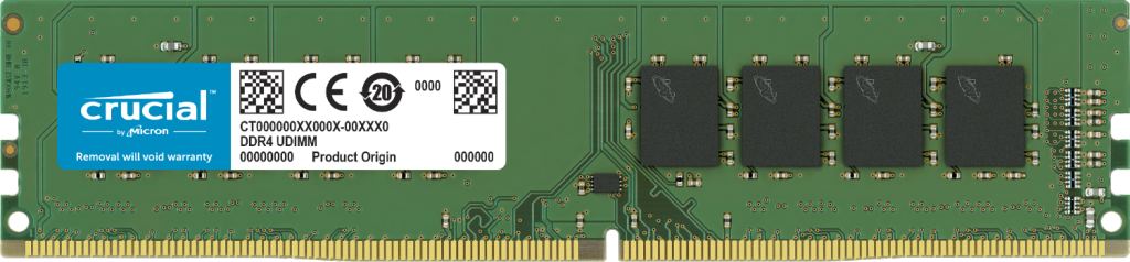 Crucial 4GB DDR4-2400 UDIMM- view 1
