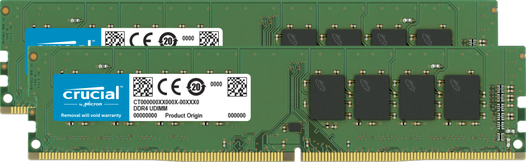 Crucial 32GB (2 x 16GB) DDR4-2666 UDIMM- view 1