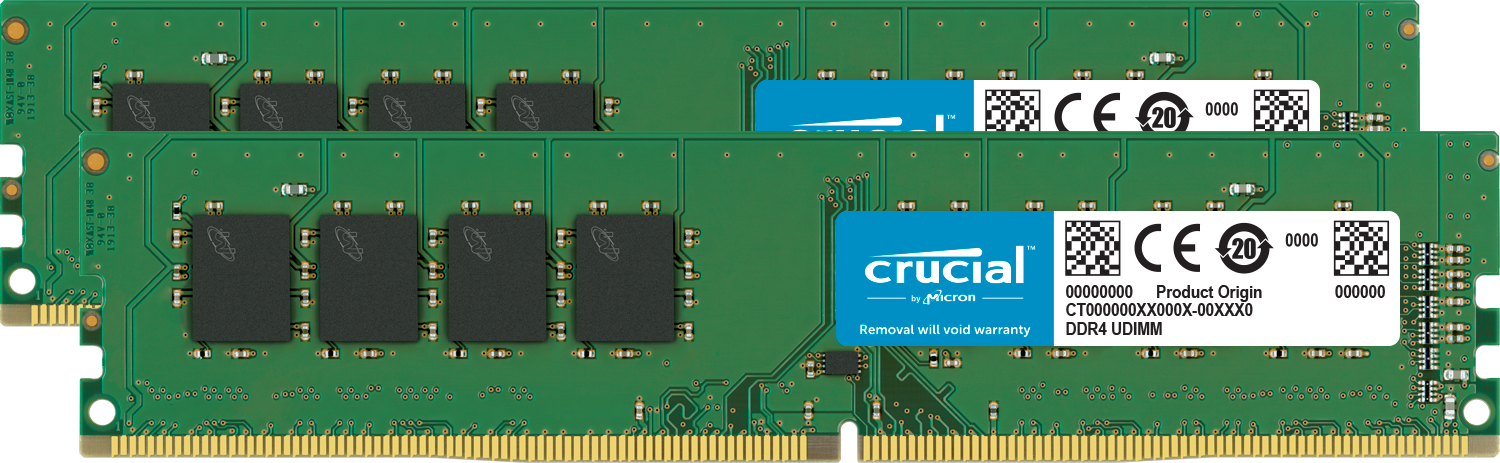 Immagine per Crucial 8GB Kit (2 x 4GB) DDR4-2666 UDIMM da Crucial IT Store