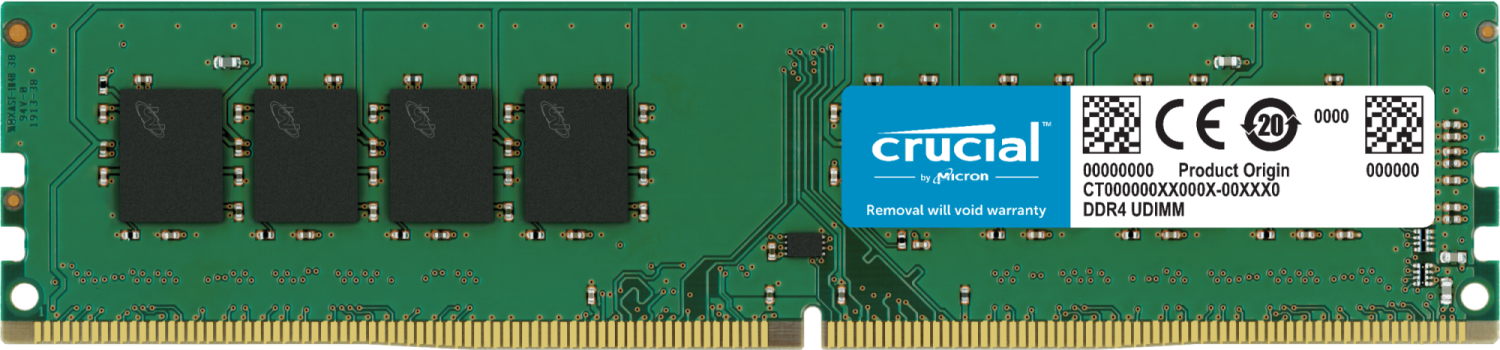 Crucial 32GB DDR4-2666 UDIMM Desktop/PC Memory
