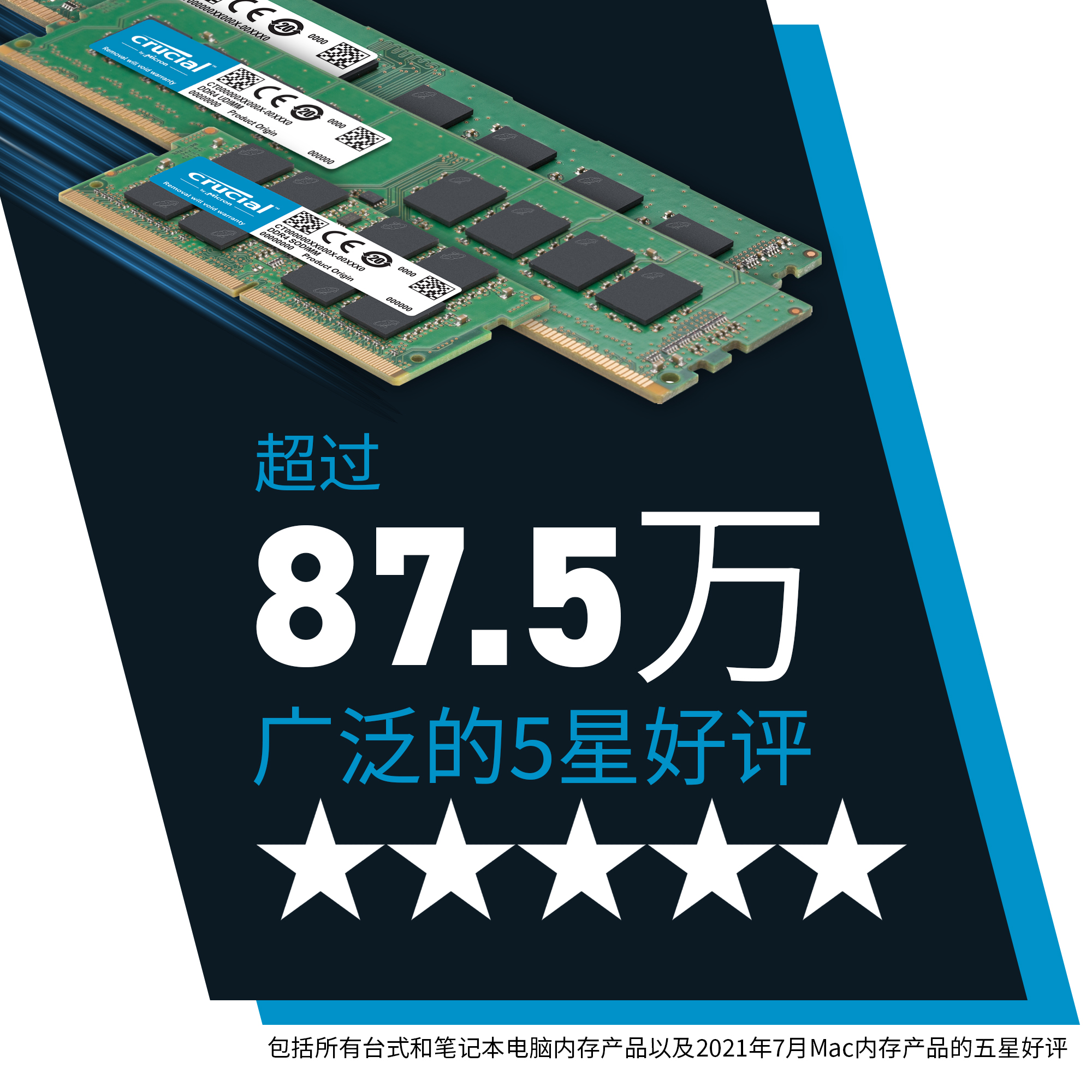 Crucial 8GB Kit (2 x 4GB) DDR3L-1600 UDIMM- view 2