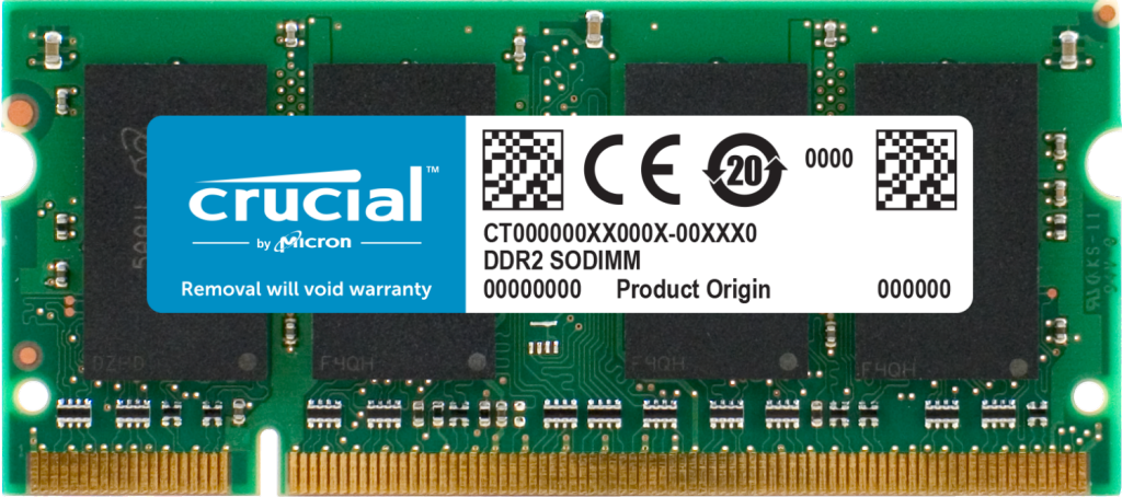 Crucial 2GB DDR2-800 SODIMM- view 1