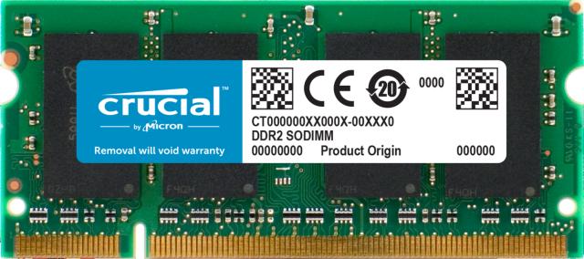 Crucial 1GB DDR2-800 SODIMM