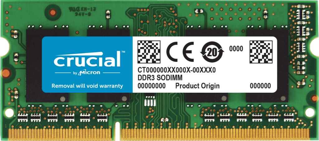 Crucial 4GB DDR3L-1600 SODIMM- view 1